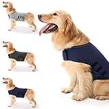 Haokaini Giacca per Cani Anti-Ansia Cappotto Calmante per Cani Camicia Antistress per Animali Domestici Gilet Caldo Calmante Giacca per Cani da Ansia per Cani Leggeri (Blu Navy S)