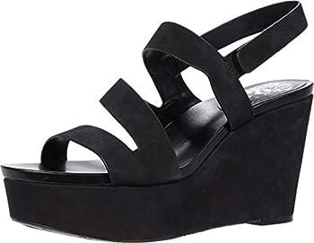 Vince Camuto Women s Velley Platform Wedge Sandal Black 8.5