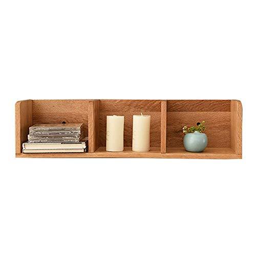 DGDF Estante colgante rústico para colgar estantes de madera de pino natural maciza simplicidad moderna pared decorativo estante para colgar plantas/maceta