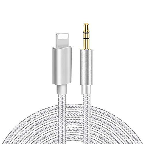 Câble Auxiliaire pour iPhone Mâle Cable Jack 3,5mm Aux Adaptateur Voiture Audio Cable Compatible avec iPhone 12/11/X/XR/XS/8/7Plus, écouteurs,Maison/Voiture Stéréo,Haut-parleurs Cable Auxiliaire