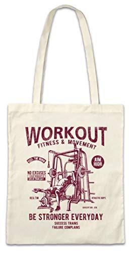 Urban Backwoods Be Stronger Everyday Hipster Bag Beutel Stofftasche Einkaufstasche
