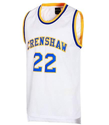JOLI SPORT Omar EPPS Quincy McCall 22 Crenshaw High School Men's Basketball Jersey S-XXXL White (Small)