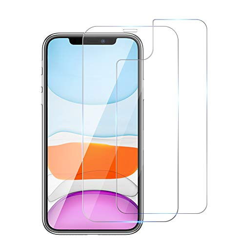Ruky iPhone 11 Front and Back Screen Protector, Anti-Scratch, No-Bubble, Anti-Fingerprint, [High Responsive] Front Rear Tempered Glass Screen Protector Film for iPhone 11 6.1""
