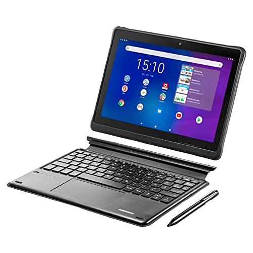 MEDION E10900 25,5 cm (10 Zoll) Full HD Tablet inklusive Tastatur (LTE, Android 10, Quad Core Prozessor, USB Typ C, 3GB RAM, 32GB Speicher, WLAN, Bluetooth, 8MP Kamera) schwarz