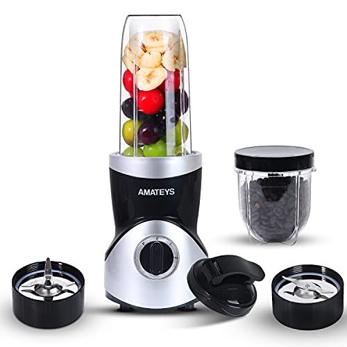 Personal Blender for Shakes and Smoothies 350 Watts, Professional Kitchen Blender Set with...