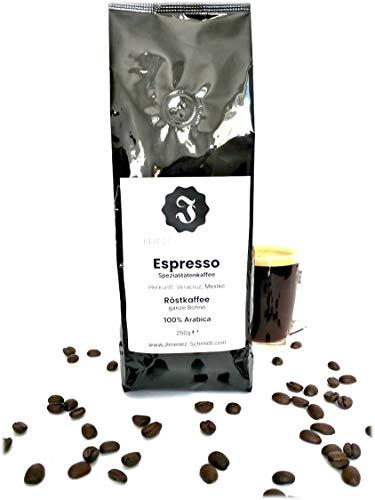 Spezialitätenkaffee aus Mexiko 250g| Espresso sortenreine 100% Arabica Bohnen| Langsame Trommelröstung| Säurearm und ideal für Vollautomat| Frische Ernte| Ohne Zusatzstoffe