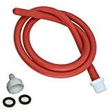 Enema Shower Anal Cleaning Shower Douche System Kit for Men and Women Reusable Red Latex Hose (39in)