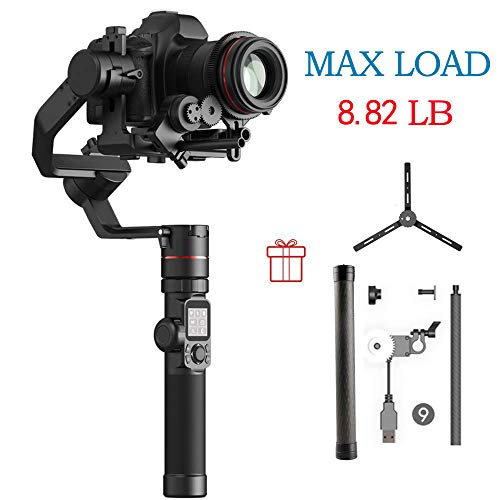 FeiyuTech AK4000 3-Axis Gimbal Stabilizer for Mirrorless & DSLR Camera Sony Canon Panasonic Nikon Smart Touch Panel WiFi Bluetooth Connection 4Kg Payload Free Follow Focus Carbon Fiber Ext