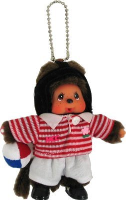 Monchhichi Sports Authority Rugby Keychain