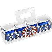 Fairly Odd Novelties Blue Redneck Party Shot Glasses, 2oz Hard Plastic Melamine Cups, 4-Pack