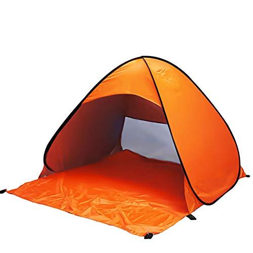 Tienda de Playa Pop Up 2 Personas,Refugio Portátil para el Sol con protección UV,Automática Tienda de Campaña para Acampar en la Playa al Aire Libre Senderismo Picnic