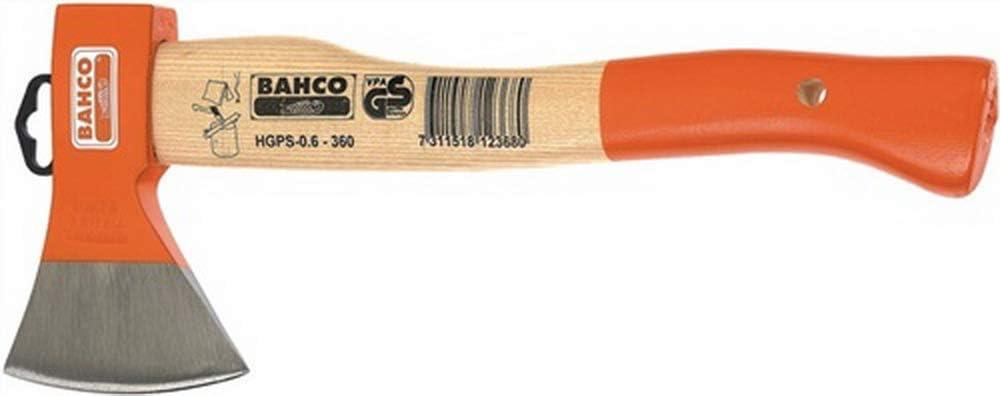 Bahco HGPS-1.0-400 - Hacha Multiusos Mango Curvado, Fibra De Carbono Y Vidrio, 400 Mm