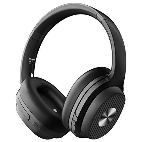 EKSA ワイヤレス ヘッドホン Bluetooth 5.0 ノイズキャンセリング ヘッドフォン 60時間再生 有線 無線 両用 遮音 密閉型 オーバーイヤーヘッドホン E5
