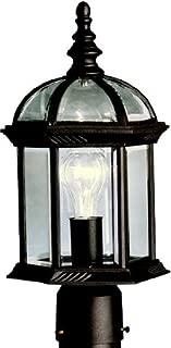 Kichler 9935BK Barrie Outdoor Post Mount 1-Light, Black