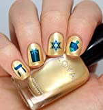Hanukkah Holiday Assortment Water Slide Nail Art Decals Set #1 - Salon Quality 5.5