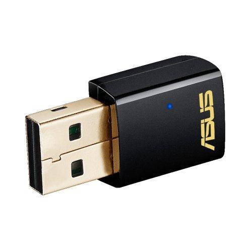 ASUS USB-AC51 - Adaptador USB inalámbrico (AC600 Mbps, MIMO, WPS), Negro