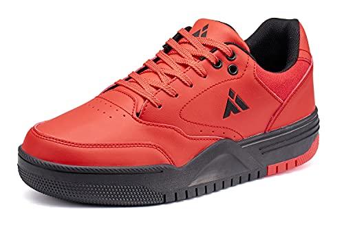 Mishansha Sneaker Herren Outdoor Laufschuhe Männer Atmungsaktiv Freizeitschuhe Rot 40