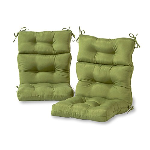 Greendale Home Fashions Outdoor High Back Chair Cushion (set of 2), Hunter