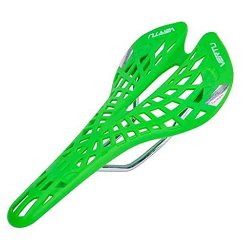CCWEI Bike Seat Cycling Bicycle Hollow Seat Saddle, Ultra Light Cycling Bicycle Seat Saddle Hollow Spider Ergonomic Shock AbsorptionWater Resistant Protection, Hiking, Road Trip,Comfortable (Green)
