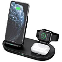 Aukey 3 in 1 Wireless Charging Station Stand (Black)