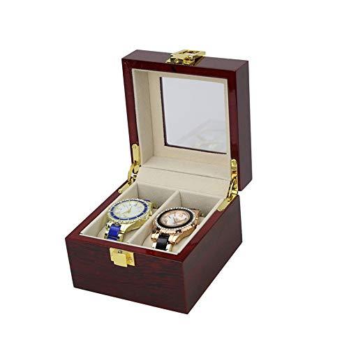 QiHaoHeji Horloge Box Case Bracket 3/6 Grid Horloge Box Display Opbergdoos Met vak Transparante Raam Sieraden Display Box Met Cover Verwijderbare Kussen Mannen En Vrouwen Horloge Case