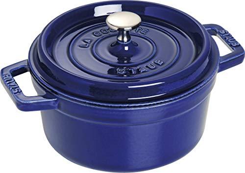 STAUB Cocotte en Fonte, Ronde, Ø 20 cm, 2,24 L, Bleu Intense