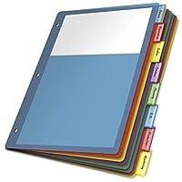 ポリ2-pocketインデックスディバイダー、手紙、マルチカラー、8-tabs /セット、4セット/パック 1-Pack