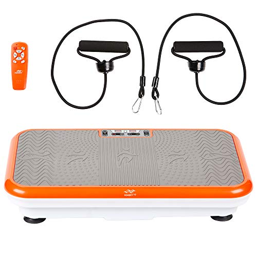 Powerfit Elite Vibration Plate Exercise Machine with Loop Resistance Bands - Whole Body Workout Fitness Platform for Home Training and Shaping (Standard)