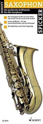 Saxophon-Spicker. Die praktische Grifftabelle für Saxophone