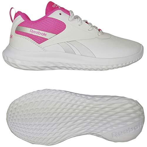 Reebok Rush Runner 3.0 Syn, Zapatillas de Running Mujer, Blanco/ELEPNK/Plamet, 36 EU
