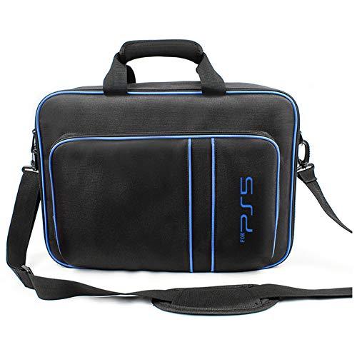 AXDNH Sac de transport pour PS5, sac à main tendance pour PS5, sac de rangement pour accessoires d'hôte PS5, sac de rangement pour PS5, sac de voyage portable, bleu