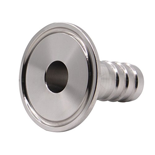 DERNORD 1.5 Tri Clamp to 0.75 Hose Barbed Adapter SUS304 Sanitary Hose Pipe Fitting (3/4 Inch Barb Hose)