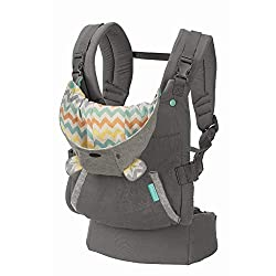 Design: Carrier with character canopy and wide ergonomic seat for knee-to-knee support with adjustable shoulder straps and waist belt to shift weight to the wearer's hips for a more comfortable fit Wearing positions: For babies weighing between 12-40...