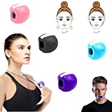 DINGJIUYAN Face shaper-Facial Toner Jaw Exerciser Jaw line Exercise Exerciser Fitness Ball Broad jaw muscle training supplies (black)