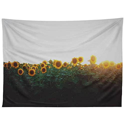 Deny Designs Chelsea Victoria Sunflower Fields Tapestry, 50