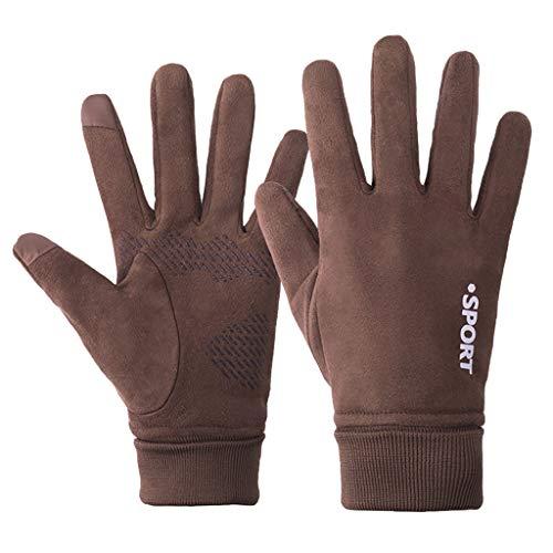 HSKB handschoenen, wanten winterhandschoenen, warm, met touchscreen-functie, instelbaar, waterdicht, winddicht, antislip, ademend, skihandschoenen, thermohandschoenen, heren