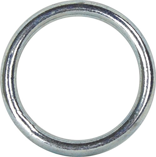 4 Stück Ring 40x4mm Stahl vernickelt Metallring Rundring Eisenring Stahlring 4cm