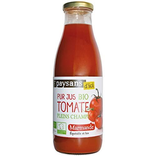 ETHIQUABLE - Pur Jus De Tomate Marmande Bio 75Cl - Lot De 4
