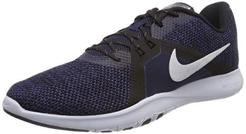 Nike Women's Flex Trainer 8 PRM Cross Training Shoes (College Navy/Metallic Silver/Marine College, 8)