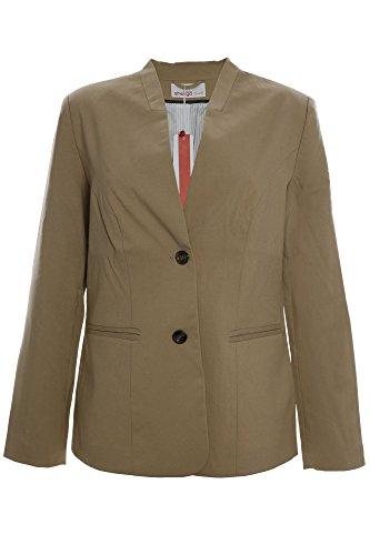 sheego Blazer Jacke Damen Plusgröße Viskose, Farbe:camel;Damengrößen:52