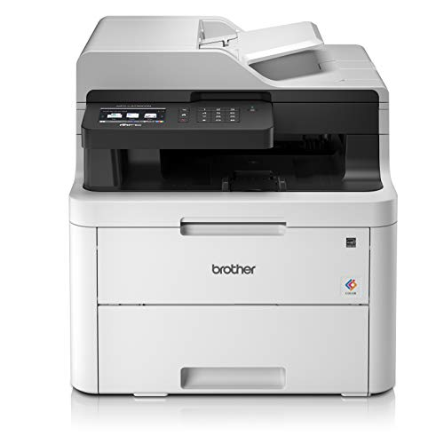Brother MFCL3730CDNYY1 Stampante Multifunzione 4 in 1 a Colori LED con FAX, 18 ppm, LAN, Ethernet, USB 2.0, ADF 50 Fogli, Stampa Fronte/Retro, Display