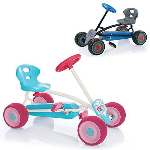 Hauck Mini Go-Kart Turbo Girl, erstes Tretauto für Kinder ab 2 Jahren
