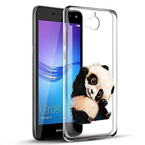 Zhuofan Plus Huawei Y6 2017 Hülle, Silikon Transparent Schutzhülle mit Muster Motiv Handyhülle Weiche TPU 360 Bumper Kratzfest Hülle Cover für Huawei Y6 / Y5 2017 / Nova Young 5
