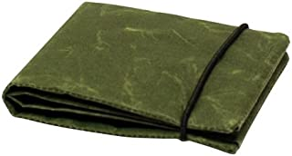 「SIWA・紙和」和紙の2ツ折財布/ダ-クグリーン
