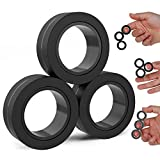 BunMo Fidget Toys - Magnetic Fidget Rings Fidget Toy. The Fidget Ring Spins, Connects, and Separates, Making Stress Toys and Sensory Toys