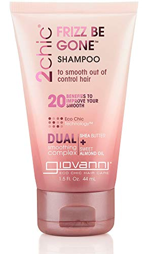 Giovanni Cosmetics 2chic Frizz Be Gone Shea Butter & Sweet Almond Oil Shampoo, Travel Size 1.5 Oz
