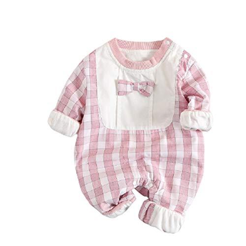 Pijamas para bebé Mamelucos de una piezaunisex niña niño Salir de Largo recién Nacido 0-3 Meses en Manga de Ropa Mono Infantil para niños Mono Infantil Traje de algodón Primavera y otoño,A,73CM