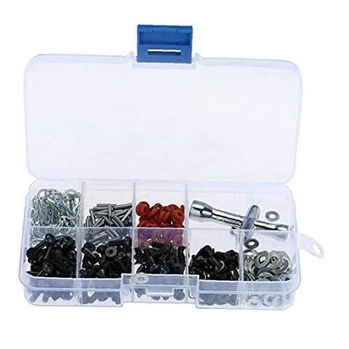 Hainice Juego de 270 piezas de herramientas de reparación tornillos tornillos tuerca tornillo sujetador destornillador cruz tornillo cabeza tornillo conjunto