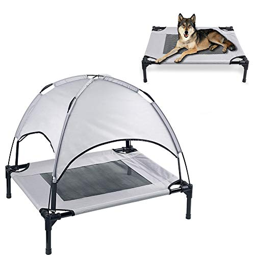 SUNBAOBAO Camas elevadas y Transpirables para Perros, Tienda de campaña para la casa de Perro Grande, sombrilla de Malla, tapete de Cama para Perros medianos y Grandes
