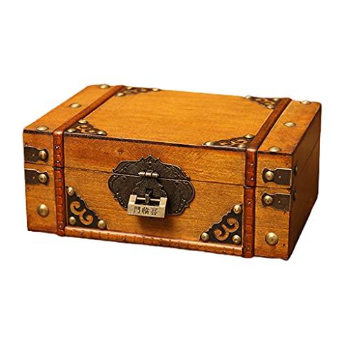 Joyero hecho a mano Caja de almacenamiento de madera vintage Caja de almacenamiento de libros Organizador Cofre del tesoro Organizador del cofre Ahorro de espacio Decoración del hogar Accesorios de ge